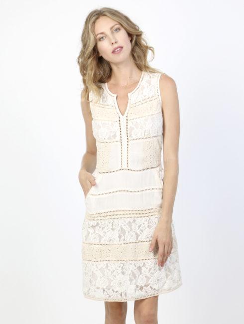 Chelsea Flower Ivory Lace Dress