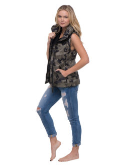 Green Camo Vest - Sam NYC - Amanda Mills Los Angles