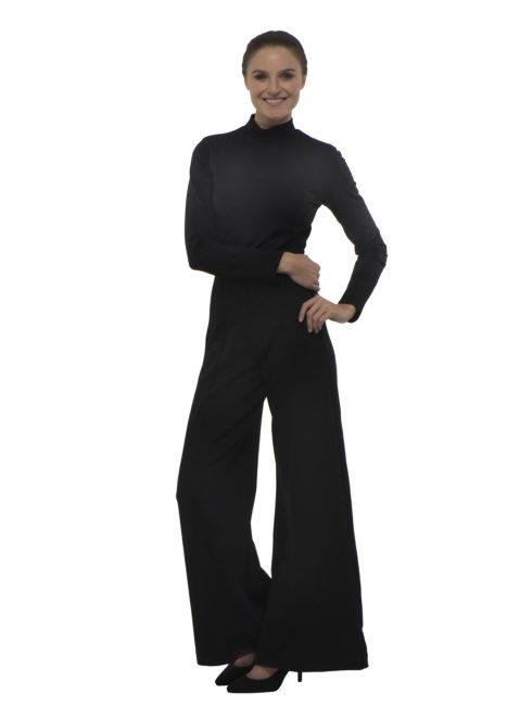Black Wide Leg Catsuit Ripley Rader 2