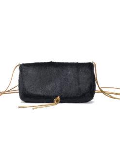 Muun Ikilon Shine Nero Fur Bag - Black - Amanda Mills LA