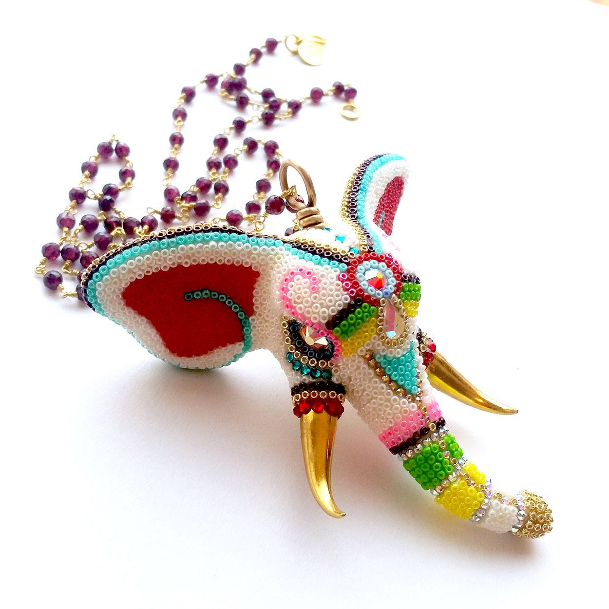 Brass-thread-elephant