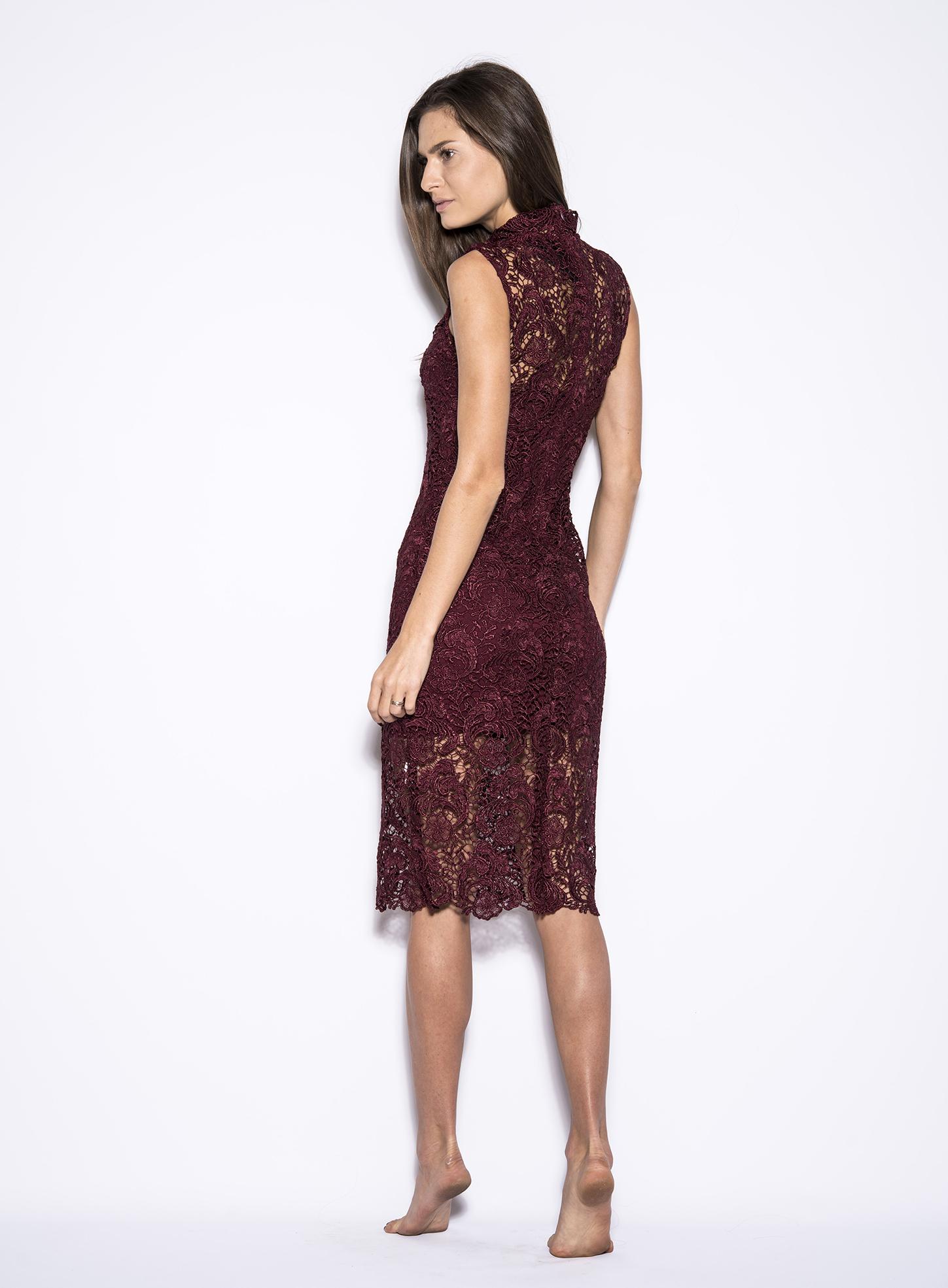 Turtleneck Lace Dress