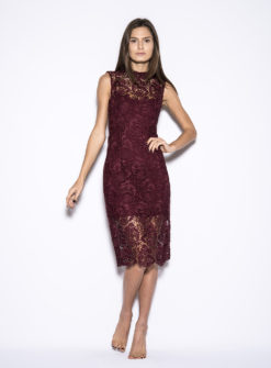 blaque-label-wine-lace-dress-front