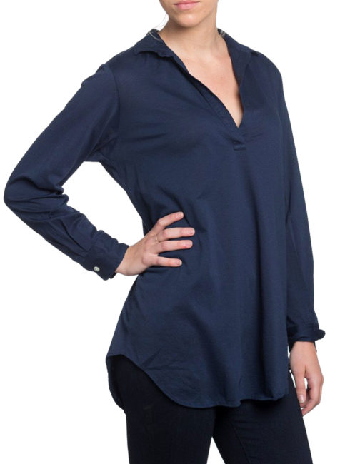 American Colors Pique Navy Pullover
