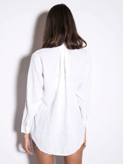 American Colors White Pique Pullover