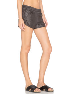MONROW -Perforated Leather Short amla