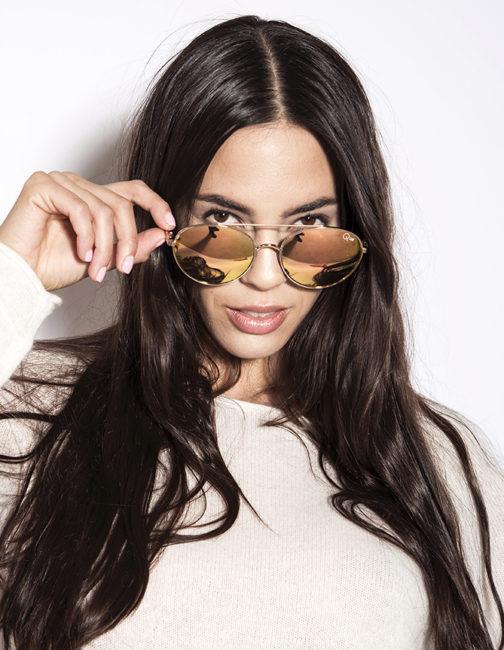 QUAY -Circus Life Gold Sunglasses