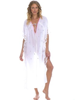 Brigitte Bardot Collection White Diamonds Kaftan