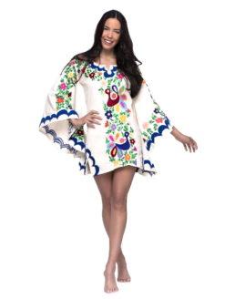 Aquz Embroidered Trim Dress