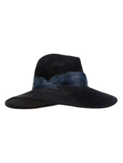 Eugenia Kim - Emmanuelle Feather Band Fedora - Black - Amanda Mills LA