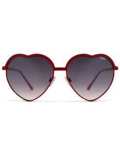 Quay- Red Heart Sunglasses