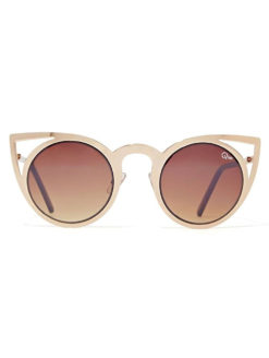 QUAY-Invader Gold Sunglasses