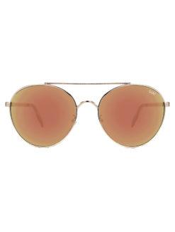 QUAY-Circus Life Gold Sunglasses