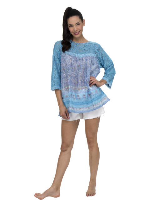 Blue Hippy Venice Beach Blue Tunic