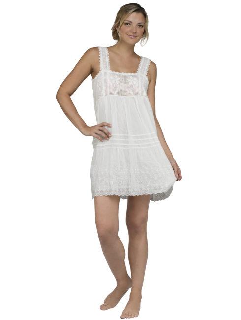 Blue Hippy Short Ivory Lace Dress