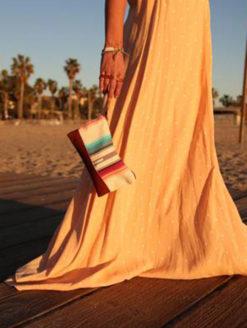 Vaalbara Tulum Mini Clutch - Brown - Amanda Mills Los Angeles