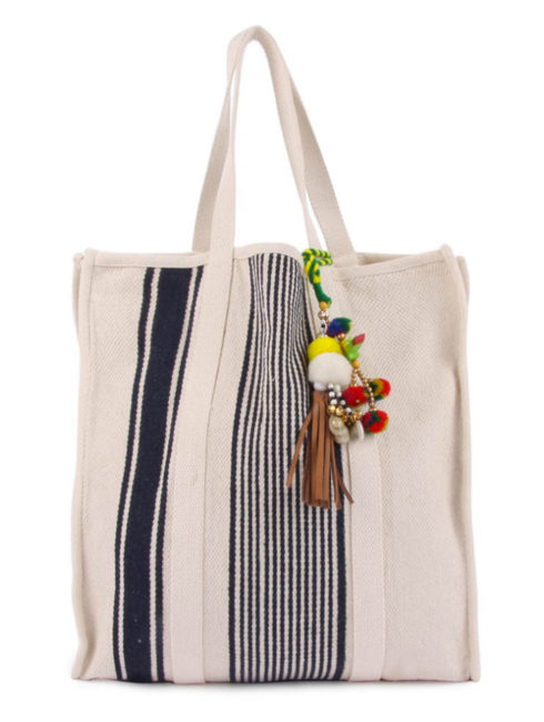 Star Mela - Navy - Robyn Stripe beach Bag