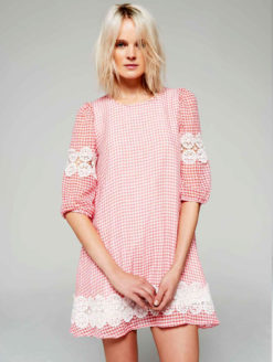 Brigitte Bardot Pink Gingham Dress