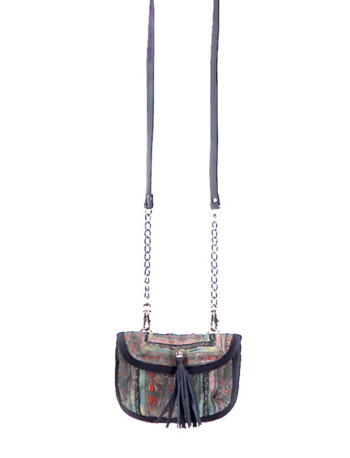 JADETRIBE PANADA CHAIN FESTIVAL BAG - BLACK - AMLA