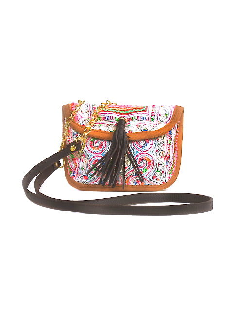 PANADA CROSS BODY COACHELLA CHAIN BAG - WHITE