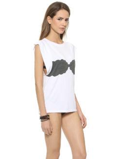 Marysia Bikini Tee - White & Black - Amanda Mills LA