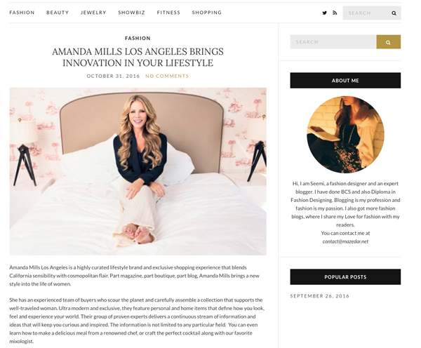 Amanda Mills Los Angeles Mazedar Fashion blog Post
