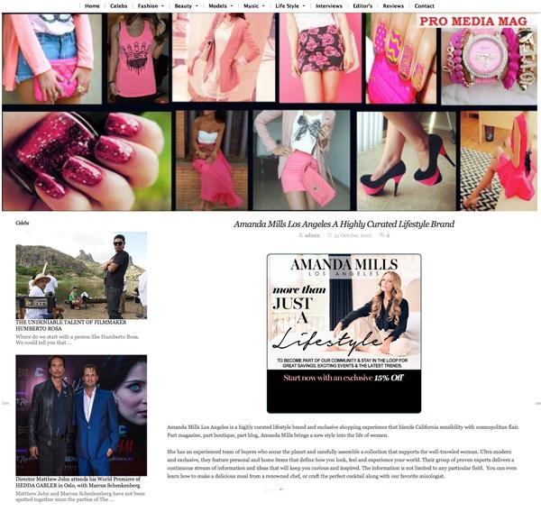Amanda Mills Los Angeles pro media mag featured post