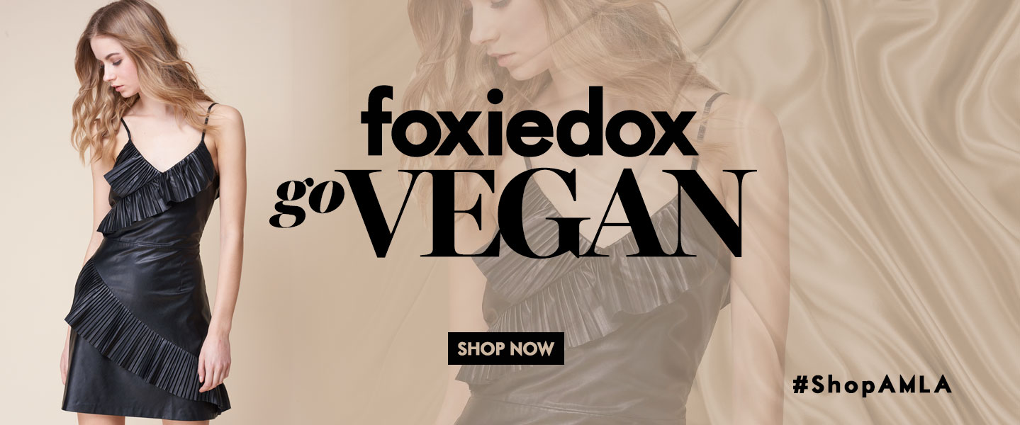 Amanda Mills Los Angeles Foxiedox Vegan Black Dress