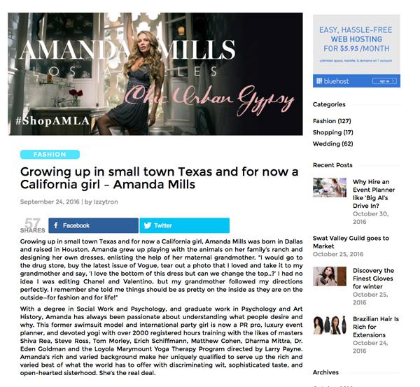 Amanda Mills Los Angeles izzy tron blog post