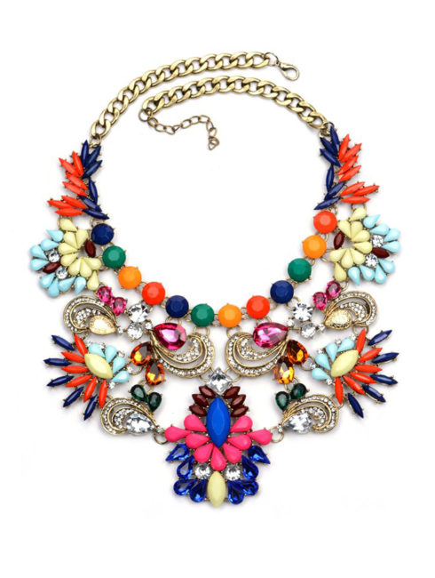 Upside Down Crown Crew Collar Necklace