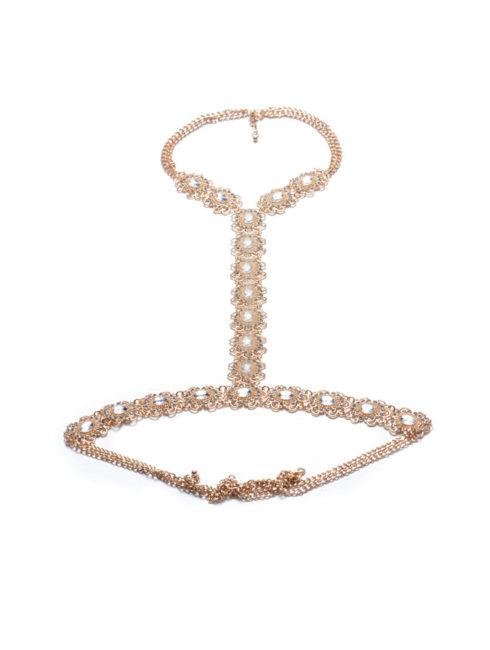 Beach Bling Gold Women's Body Chain