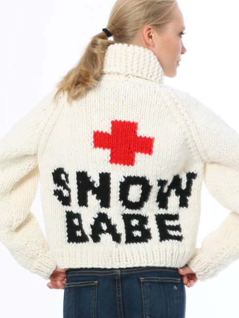 Snow babe cardigan - crop