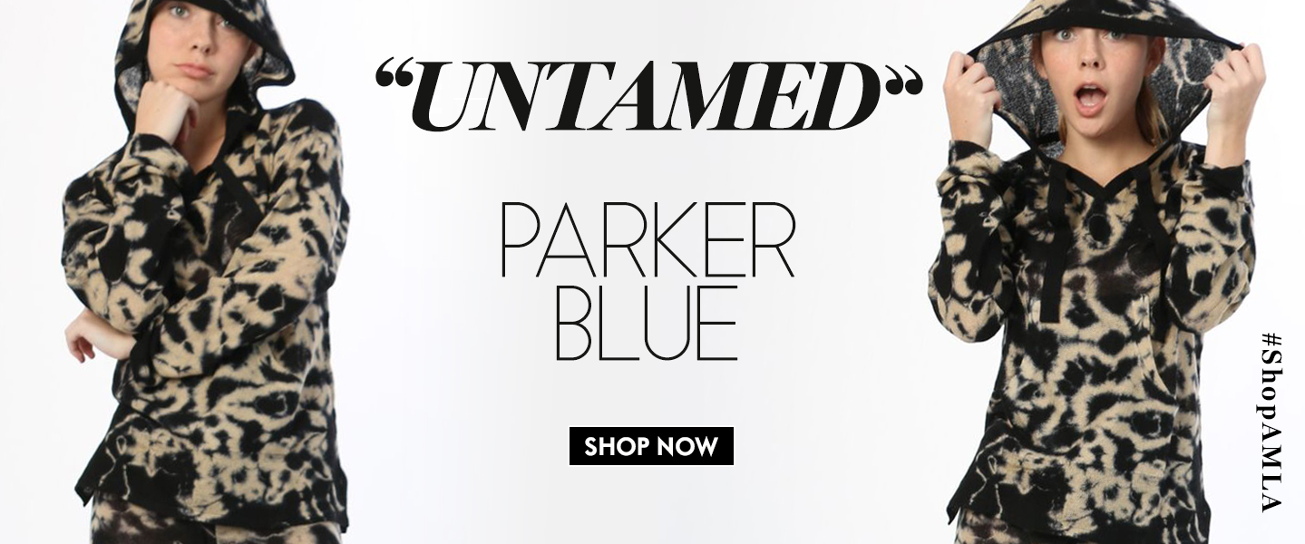 Amanda Mills Los Angeles Parker blue clothing