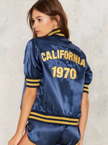 California 1970 Bomber Jacket Stoned Immaculate