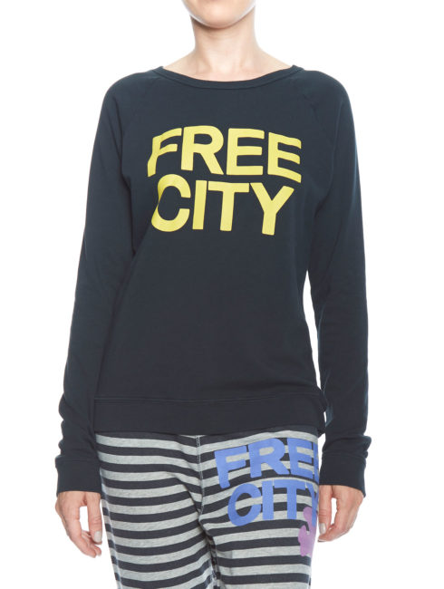 FREECITY NAVY Raglan - Deep Space Yellow Logo-shopamla