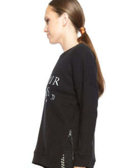 Bonsoir Paris Print Sweater - Black