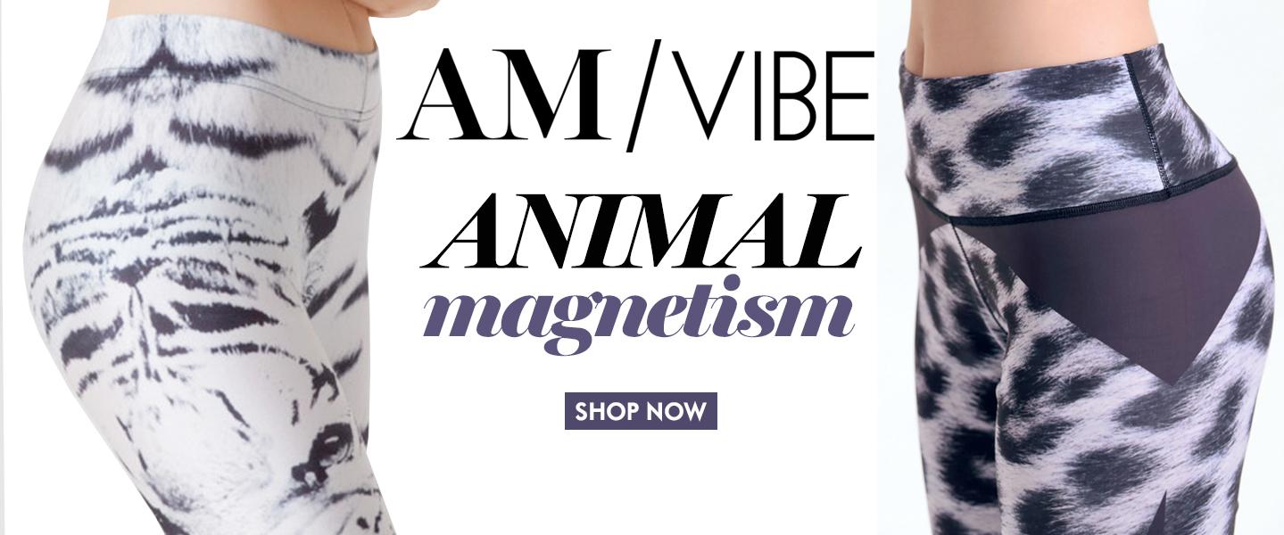 Amanda Mills Los Angeles AM Vibe animal print yoga pants