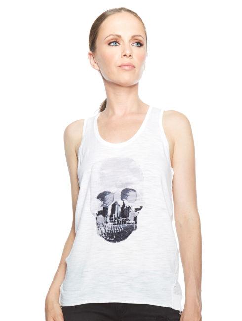 Skull Cashmere - Mikita Skull Racerback Tank - Amanda Mills LA