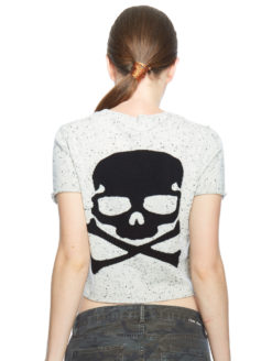 Skull Cashmere Grey Crop Talla Sweater