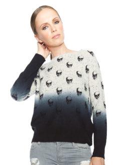 Skull Cashmere Yolanda Sweater - Amanda Mills LA