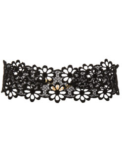 amla lacey daisy choker black-lace fraiser sterling image