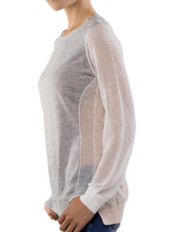 Zero Degrees Celsius - Pullover Mesh Sleeve Sweater - Amanda Mills Los Angeles