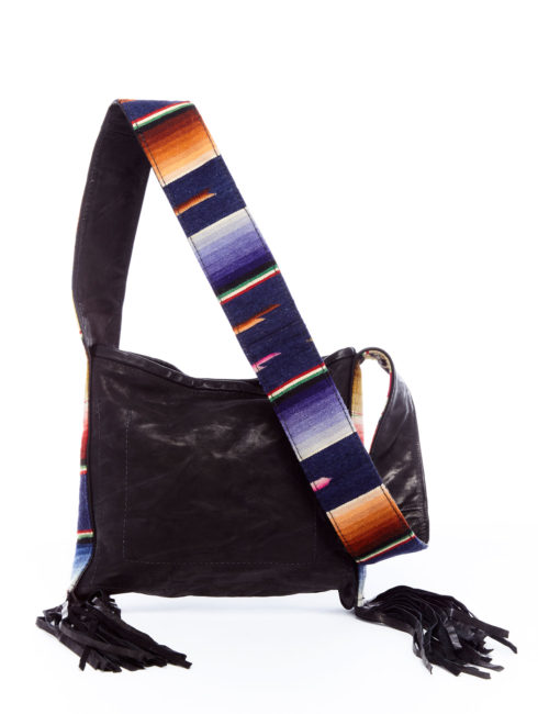 Serape Strap Leather Bag