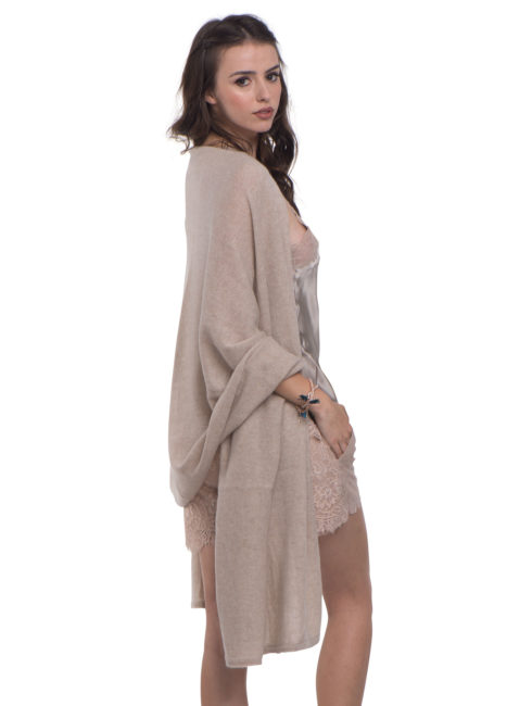 Cashmere Blankie Wrap - French Taupe