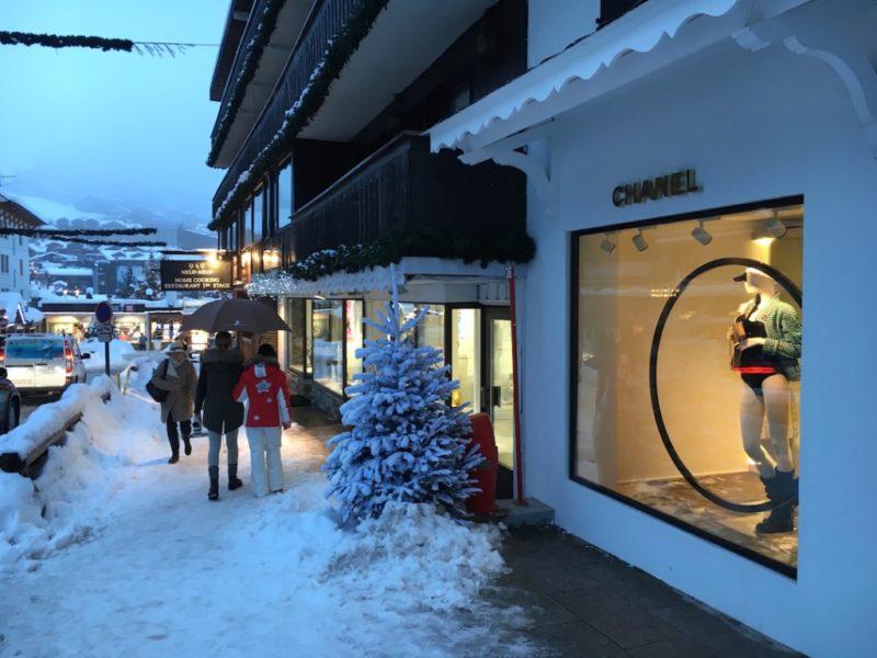 Ski Gstaad St Moritz Courchevel Zermatt- amanda mills la chanel store
