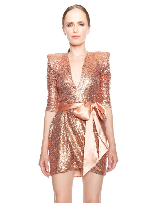 Zhivago Never Again Dress - Rose Gold. - Amanda Mills Los Angeles