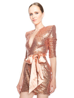 Zhivago Never Again Dress - Rose Gold - Amanda Mills Los Angeles