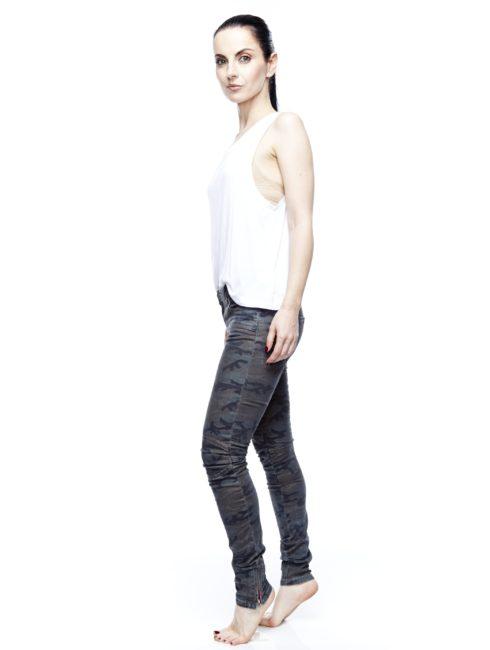 Zip Skinny Jeans - Camo