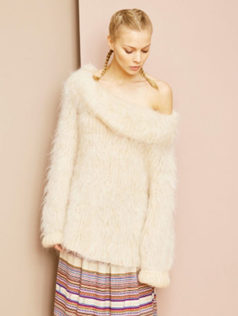 Mes Demoiselles Moody Sweater - White - Amanda Mills Los Angeles