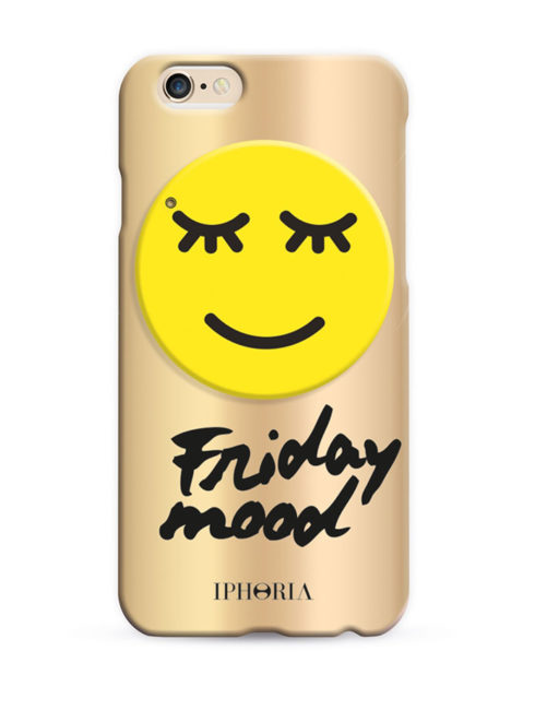 IPHORIA Miroir au Portable Happy Smiley for iPhone 7-GOLD